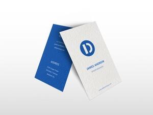 Vertical Business Card Mockup Free