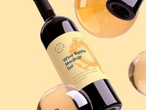 Wine Bottle Mockup Sample