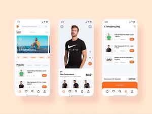 Zalando E-Commerce App Redesign шаблон