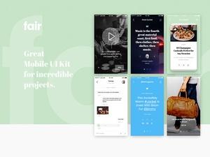 Fair Mobile UI Kit Sample