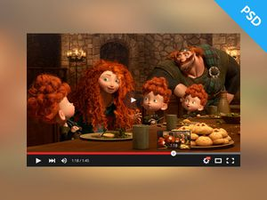 YouTube Video Player UI – Material Design