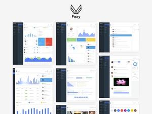 Foxy Admin Panel Dashboard UI Kit