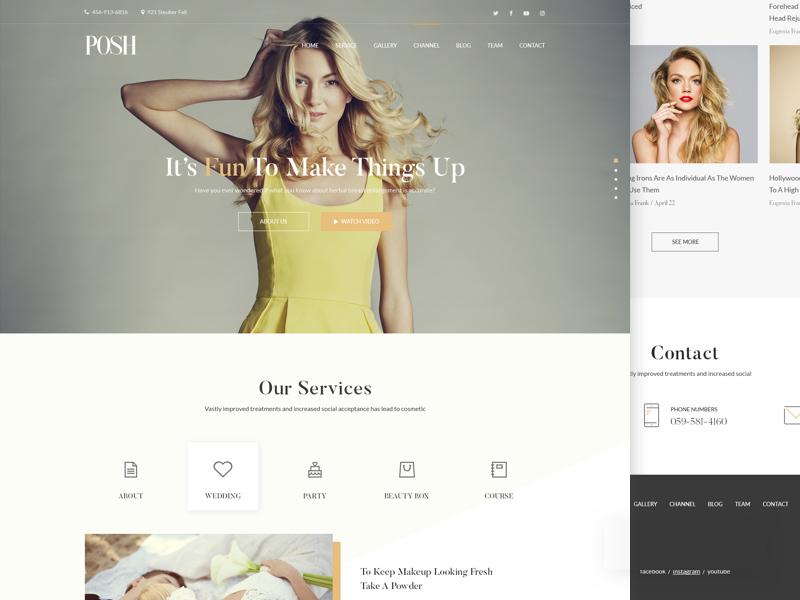 Posh Beauty Homepage Template