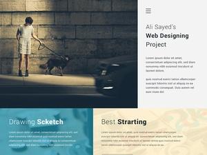 Creative Minimal Business Agency Webpage Design