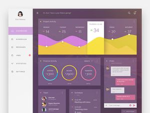 Translucent Admin Dashboard
