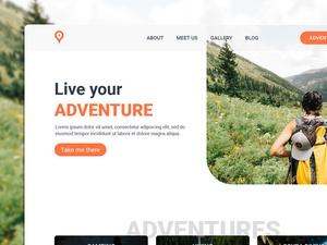 Adventures Homepage UI Template