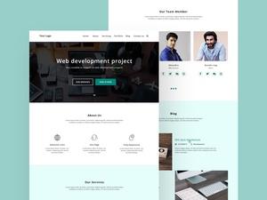 Web Development Homepage Web Design Template
