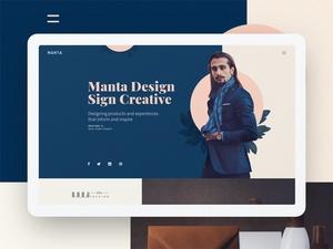 Manta Homepage Template