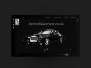 Rolls Royce Phantom Coupe Website Template