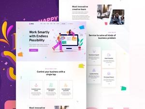 Startup & Agency Landing Page   Rou