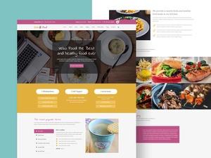 Vevo Food – Restaurant & Cafe Website PSD Tempalte