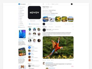 VKontakte Website Redesign Template