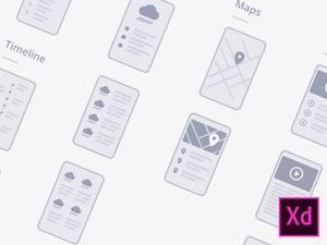 Adobe XD Mobile Wireflows