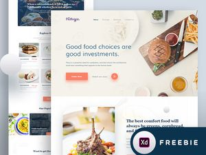 Food Landing Page Xd Template