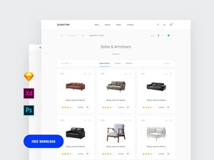 Adobe Xd Commerce Category Page Template