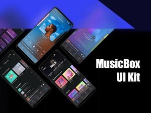 アドビ Xd UI キット |ミュージック ボックス 70+ スクリーン