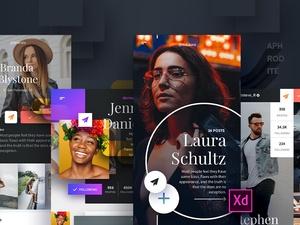 Adobe XD UI Kit – Aphrodite