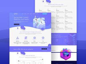 Hosting Service Concept | Adobe Xd Website Template