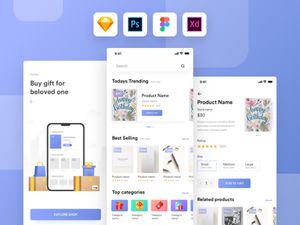Kamartaj Gift Shop UI Kit For Adobe XD