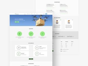 Adobe Xd Landing Page Website Template