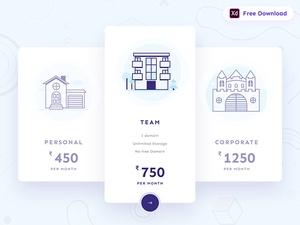 Pricing Plan UI Design